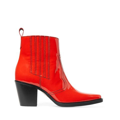 Callie Patent-Leather Ankle Boots