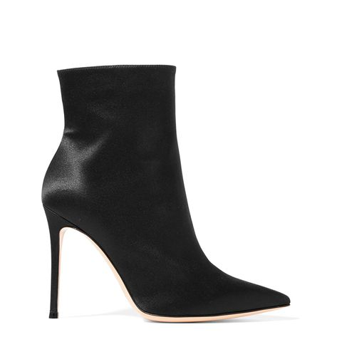 Arles Satin Ankle Boots