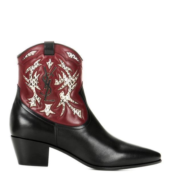 Rock 40 cowboy ankle boots