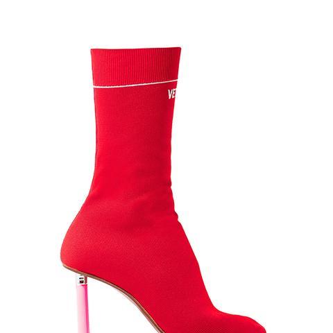 Stretch-Knit Sock Boots