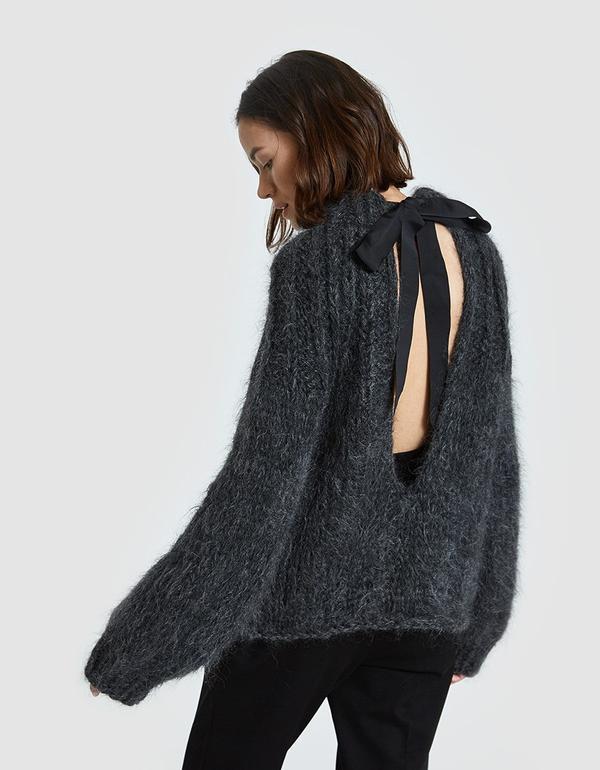 The Julliard Mohair Open Back Pullover