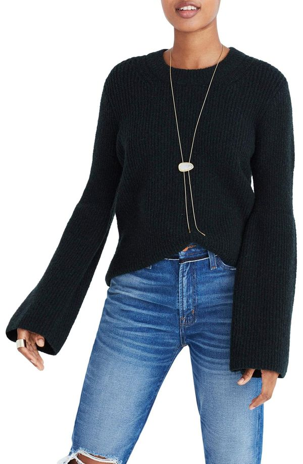 Bell Sleeve Pullover Sweater