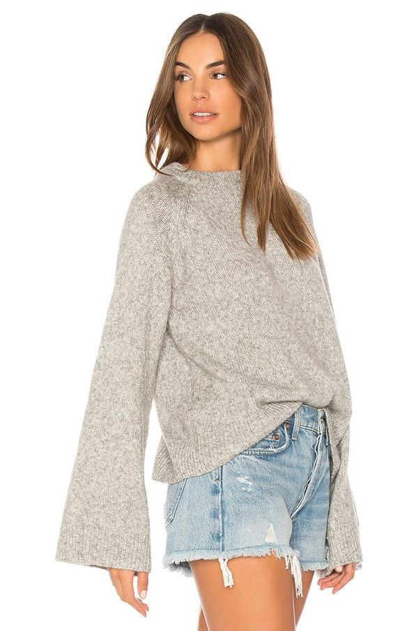 Noelle Sweater in Gray. - size L (also in XS,S,M)