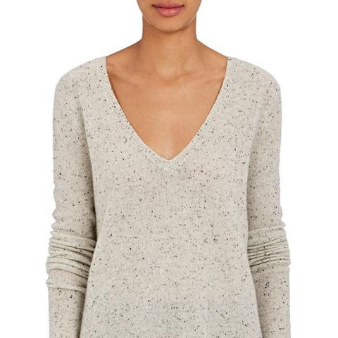 Donegal-Effect Cashmere Sweater