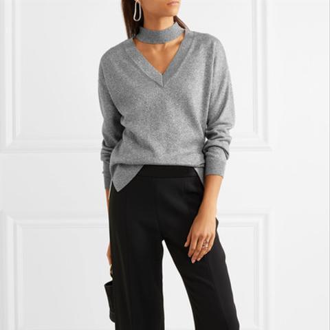 Metallic Wool-Blend Sweater