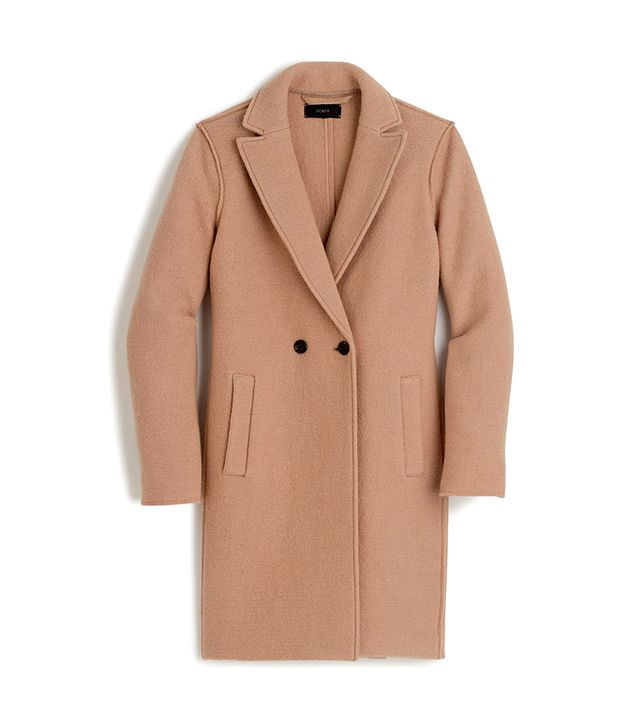 J.Crew Daphne Topcoat in Boiled Wool