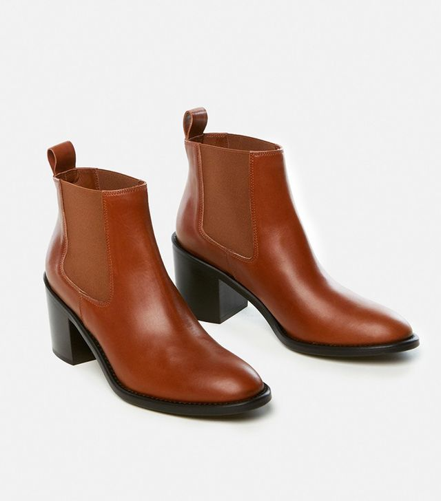 Jenni Kayne Heeled Chelsea Boots in Saddle Leather