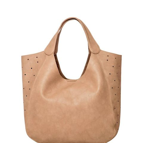Masterpiece Perforated Vegan Leather Tote
