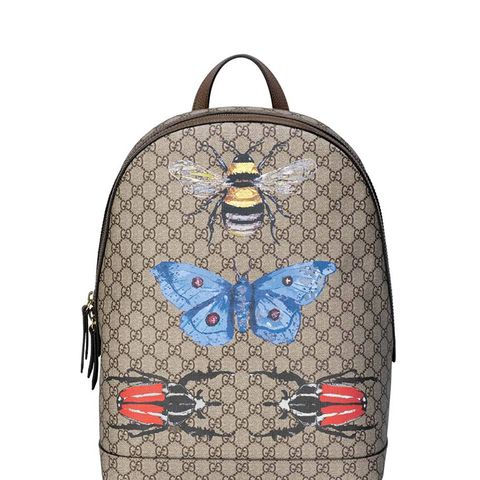 Insect Print GG Supreme Canvas Backpack