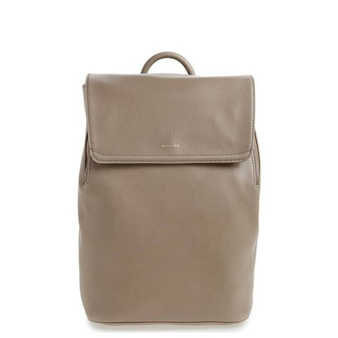 Fabi Faux Leather Laptop Backpack