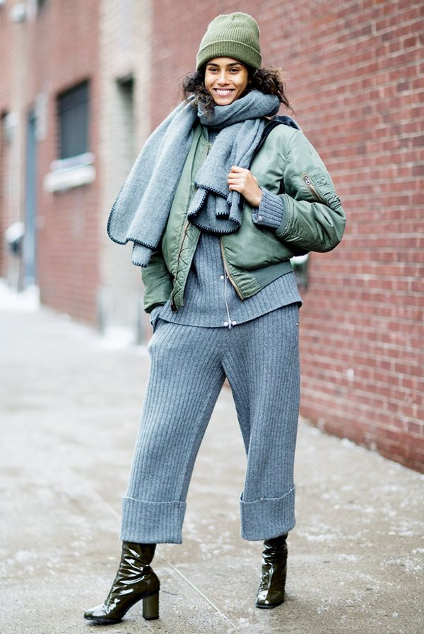 Who knew head-to-toe gray sweats could look so chic?