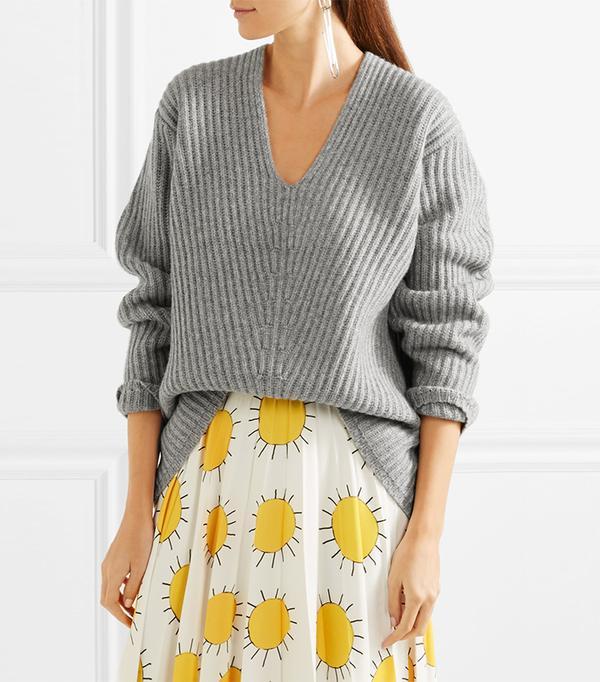 Deborah Oversized Ribbed Wool Sweater