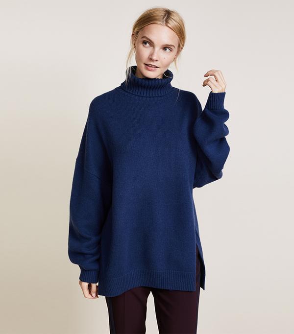 Cashmere Turtleneck Oversized Sweater