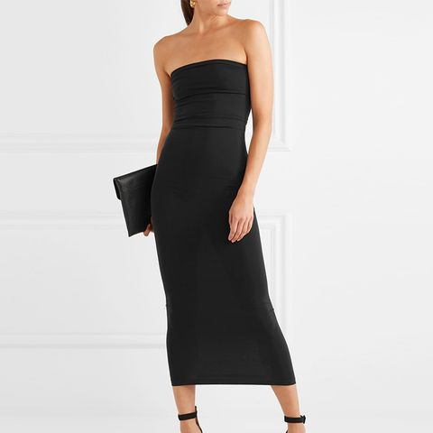 Fatal Strapless Stretch-Jersey Maxi Dress