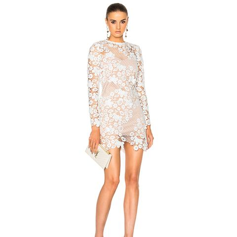 3D Floral Mini Dress