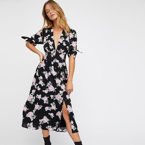 Printed Love of My Life Midi Dress