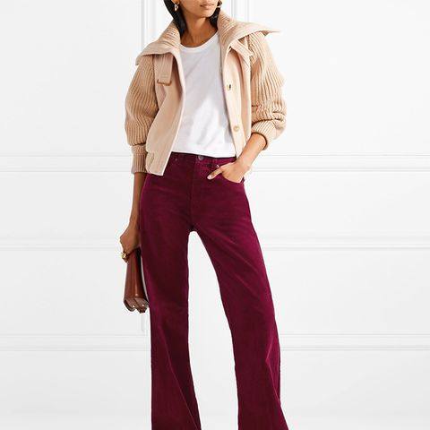 Corduroy Wide-Leg Pants