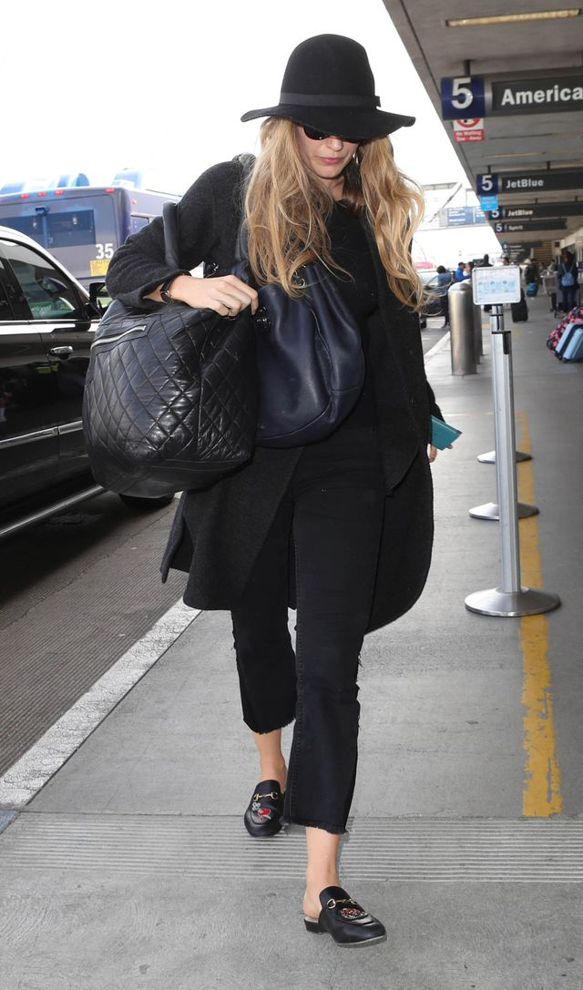 We're constantly seeing Blake Lively in her Gucci slip-ons at the airport—and for a good reason. These of-the-moment loafers are perfect for slipping on and off through TSA...