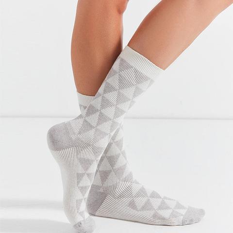 Cashmere Triangle Crew Sock