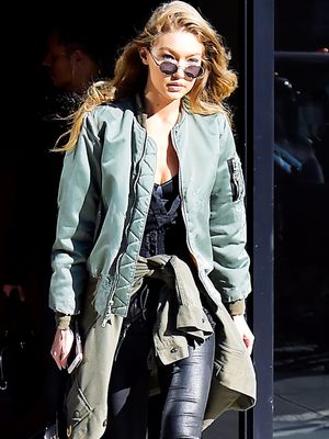 Gigi Hadid Just Wore the Jacket You'll Find in Every High-Street Shop Right Now