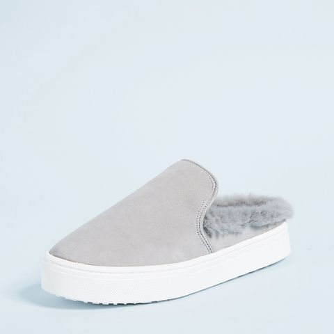 Levonne Faux-Fur Slip-On Sneakers