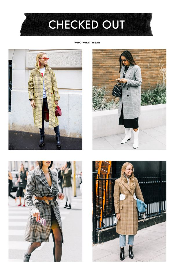 The checked blazer craze has quickly transitioned into the checked coat craze as fashion girls everywhere are reaching for any topper that is checked and tailored.