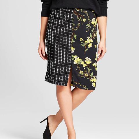 Print Mix Pencil Skirt