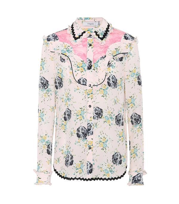 Western Lace silk shirt