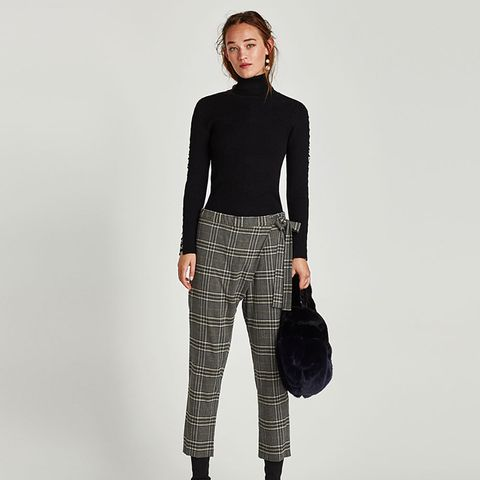 Checked Crossover Trousers