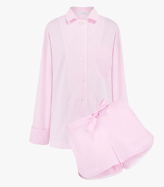 The Sleeper Power Pink Pajama Set With Shorts
