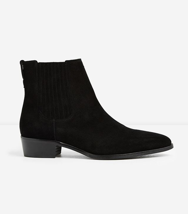 The Kooples Black Suede Chelsea Boots