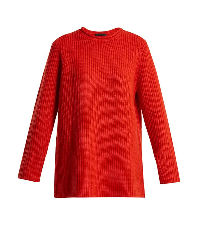 Taby ribbed-cashmere sweater