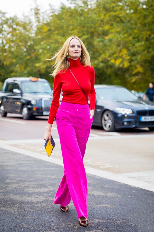 Turtleneck + Bold Pants