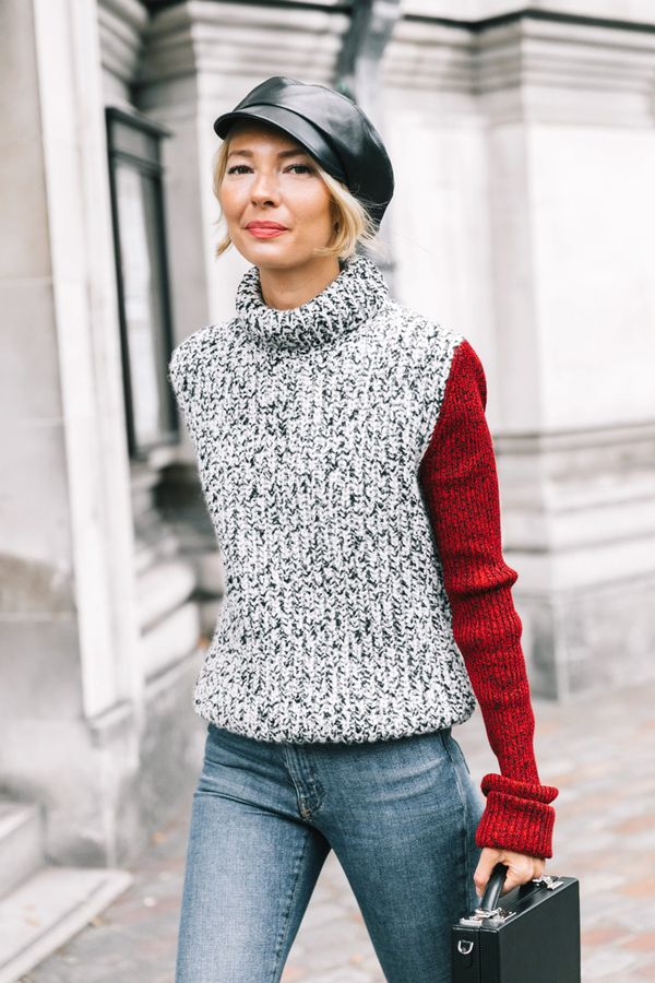 Turtleneck + Newsboy Cap