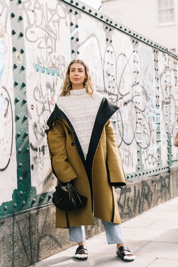 Turtleneck + Statement Coat