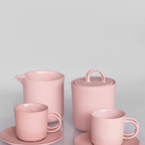 Pink Porcelain Coffee Set