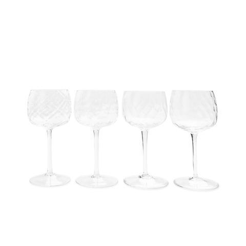 Distinct Patterned Wine Glasses
