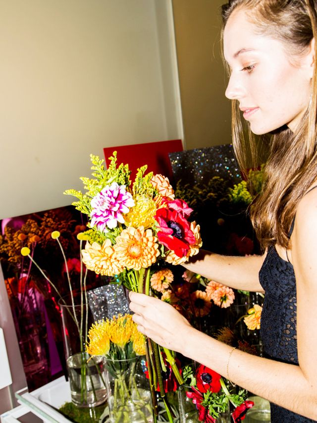 man repeller DIY floral arrangement
