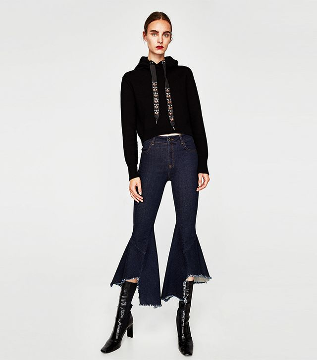 Zara Flared Jeans With Seams