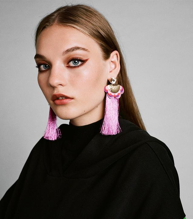 Zara Earrings With Long Fringe