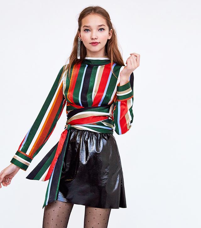 Zara Multicoloured Striped Top