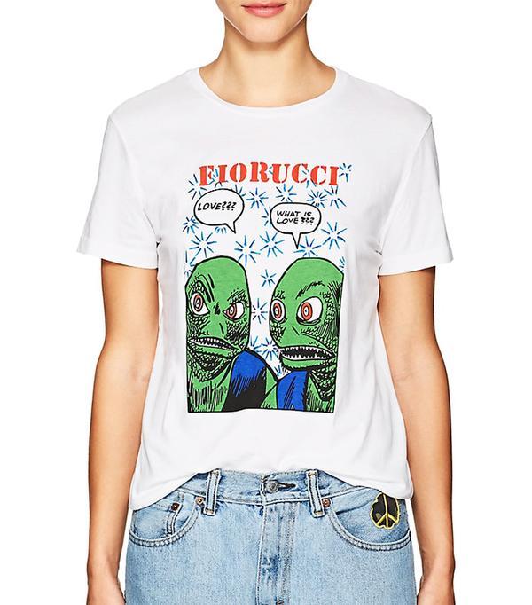 Women's Alien-Graphic Cotton T-Shirt