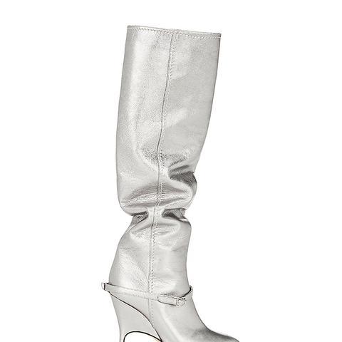 Women's Titan Metallic Leather Knee Boots