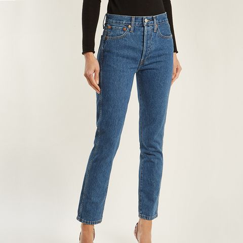 High-Rise Slim-Leg Cropped Jeans