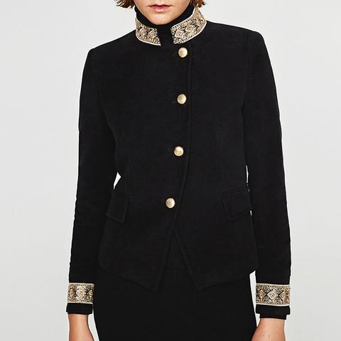 Velvet Jacket With Passementerie
