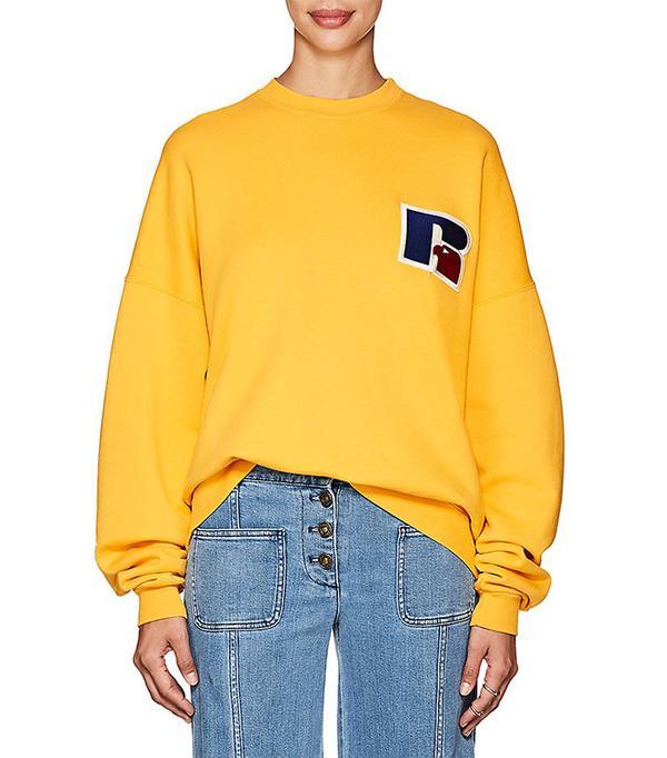 Women's thedrop@barneys: Russell Logo Cotton Terry Sweatshirt