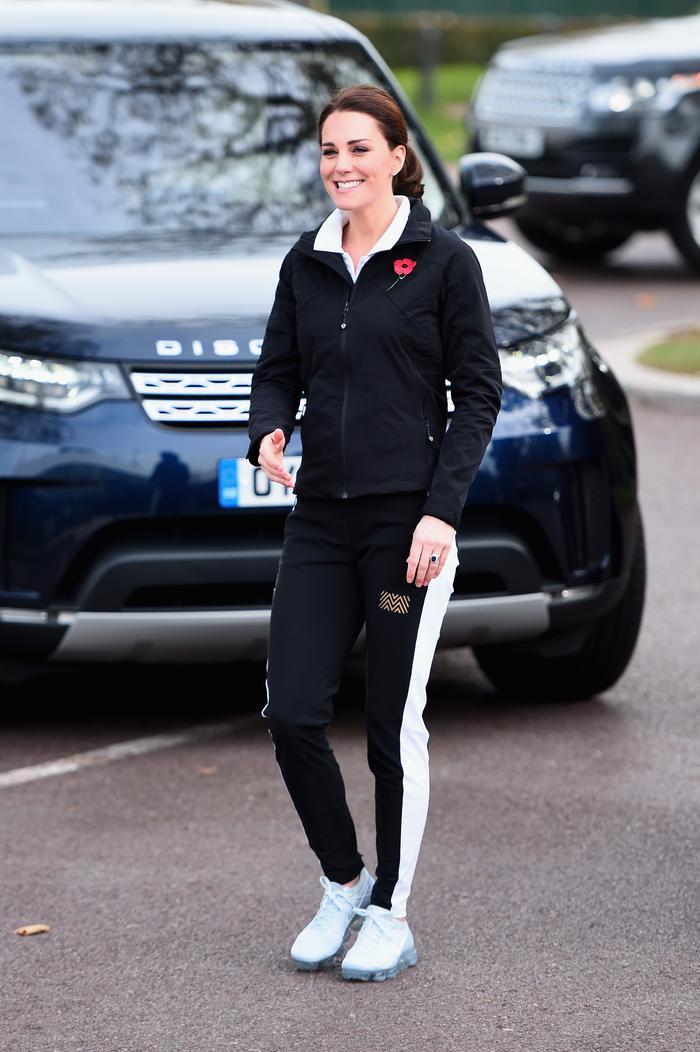 Kate Middleton wearing Nike sneakers