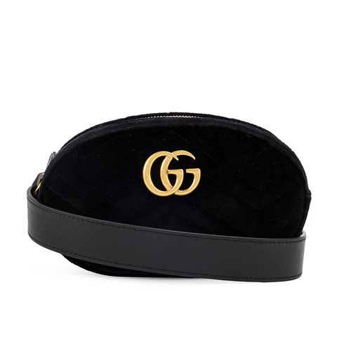 Black Marmont Velvet Belt Bag