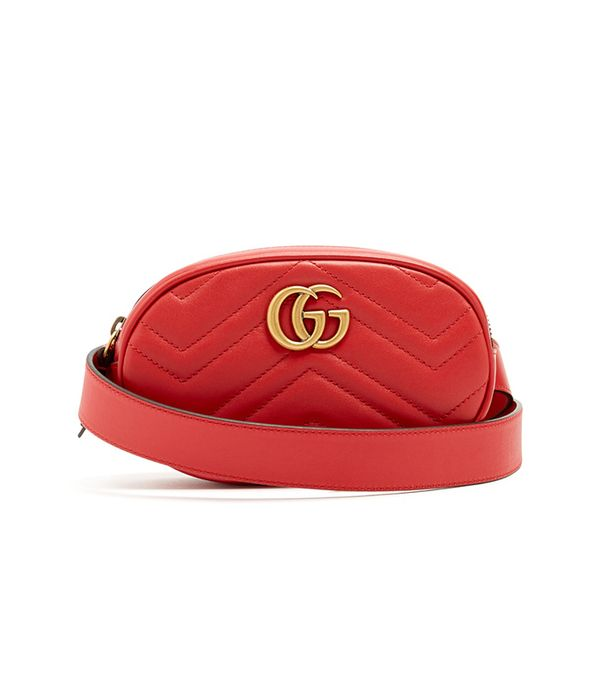 GG Marmont quilted-leather belt bag