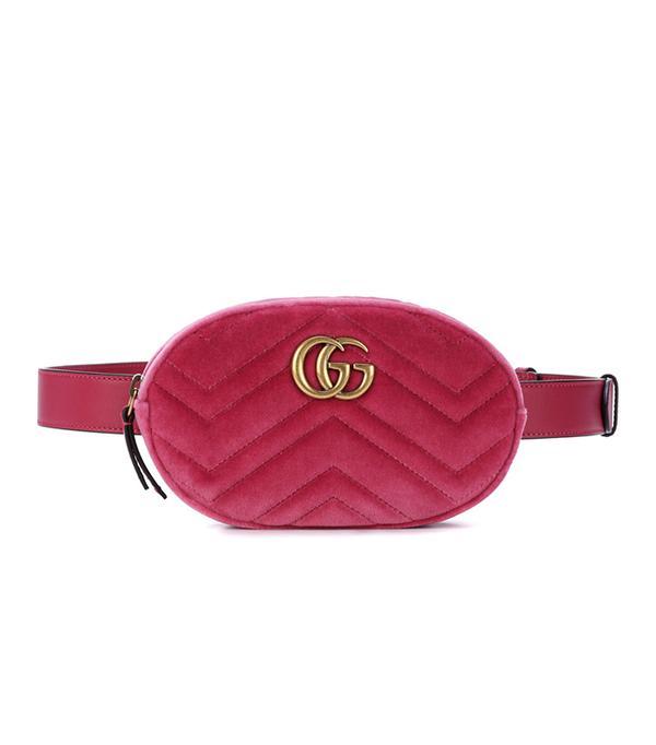 Marmont velvet belt bag